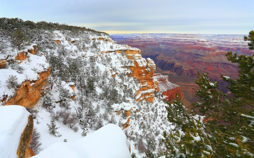 Snow Storm in Grand Canyon Forest, AZ