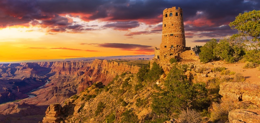 Desert View Point Watchtower