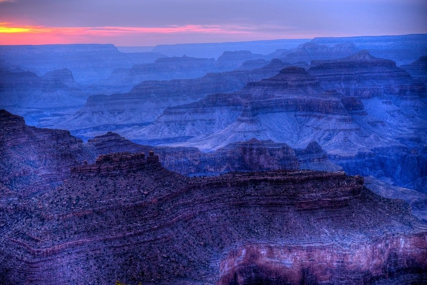 Grand Canyon Sunset in the Winter Time