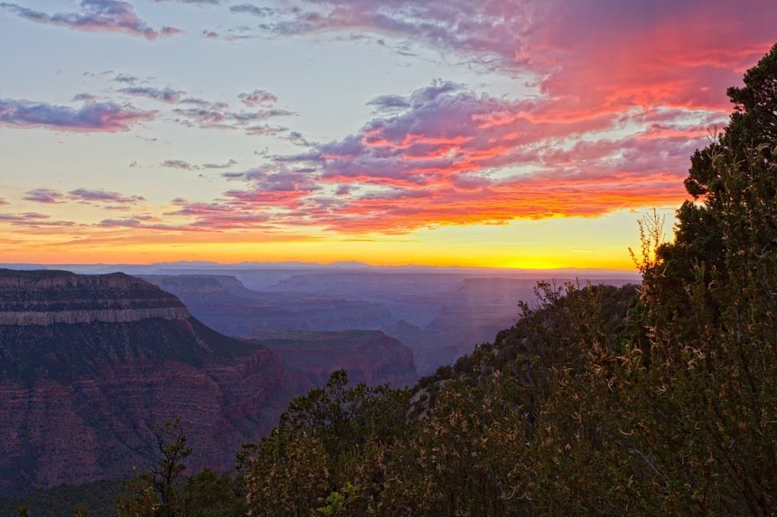 Timp Point Sunset Grand Canyon