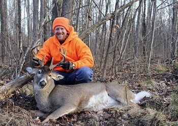 Ten Point Whitetail Buck and Hunter Lung Shot