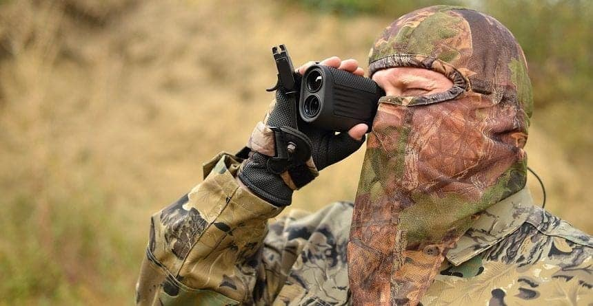 Best Rangefinder in use by Hunter on Expedition