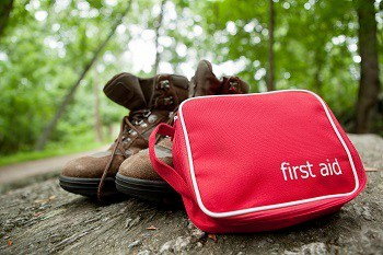 First Aid Kit while Hiking
