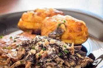 Morel Mushrooms in Cooked Dish