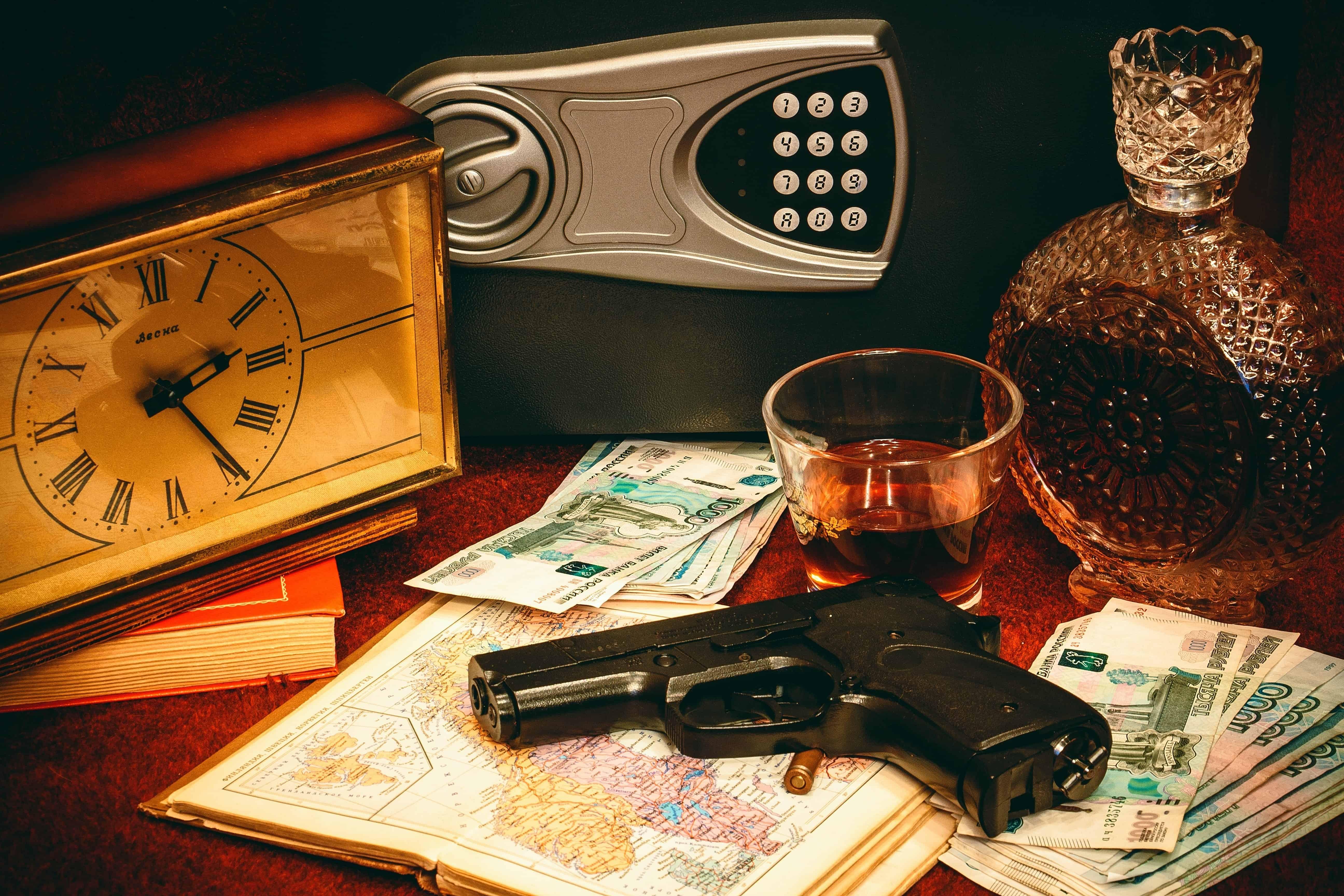 gun clock money and the best gun safe