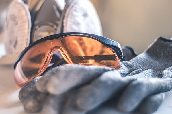 gloves and sunglasses