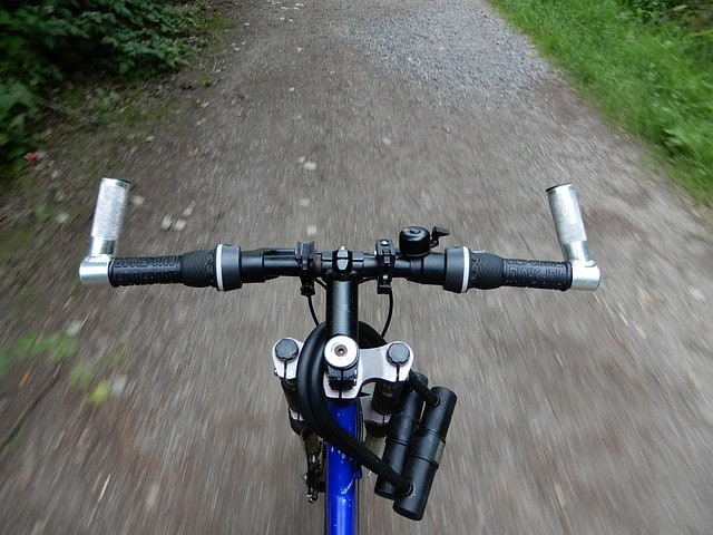 a standard mountain bike handlebar