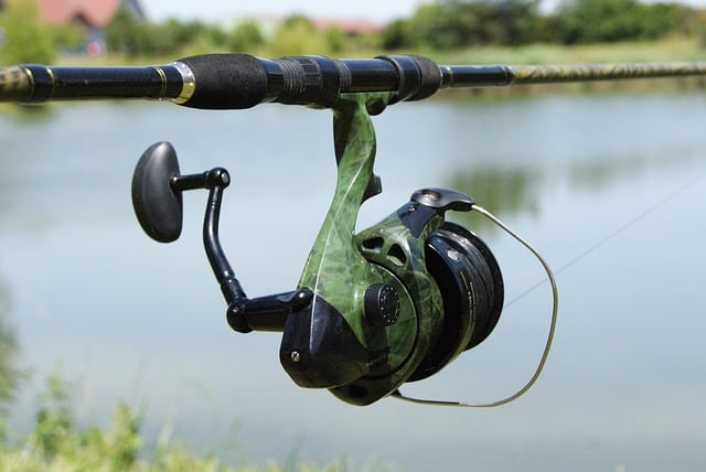 green fishing reel