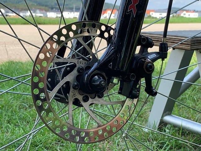a mountain bike suspension