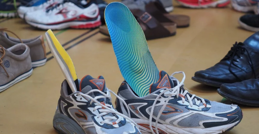 shoes with insoles inserted