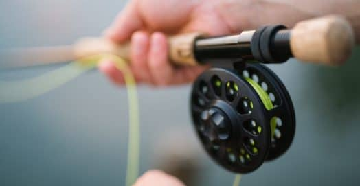 Close up of a SPINNING REELS